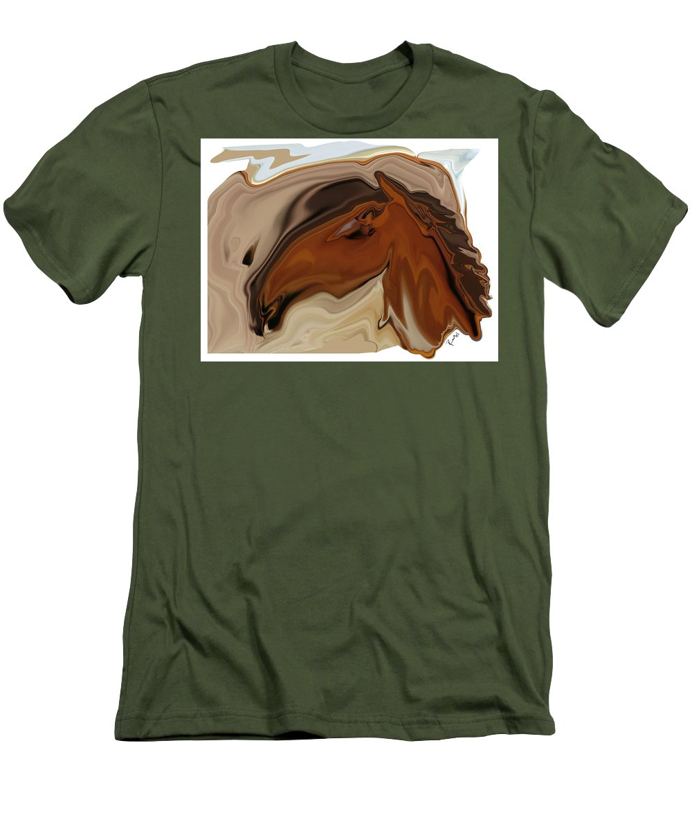 Youngster Men's T-Shirt (Athletic Fit) featuring the digital art Youngster by Rabi Khan