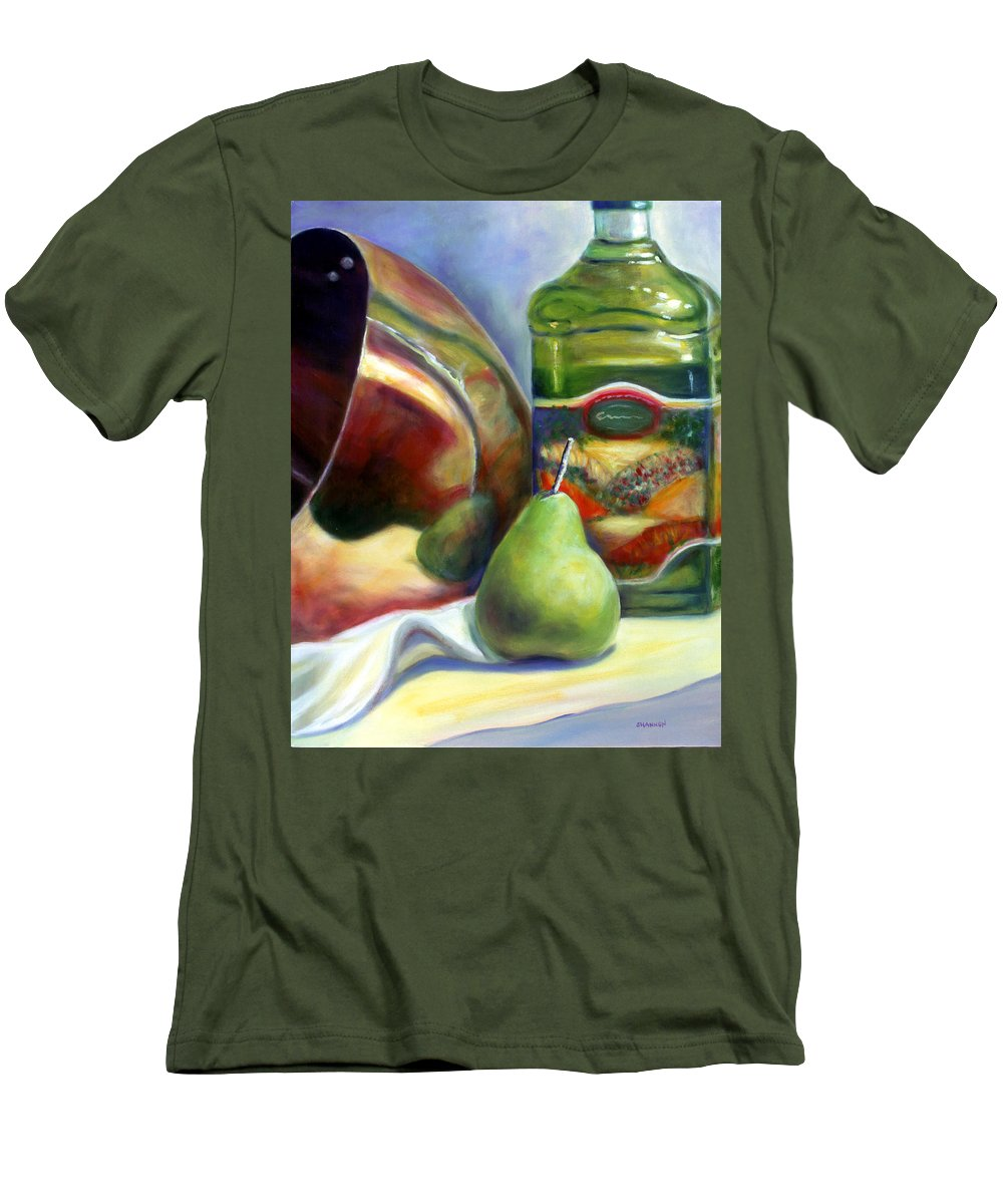 Copper Vessel Men's T-Shirt (Athletic Fit) featuring the painting Zabaglione Pan by Shannon Grissom