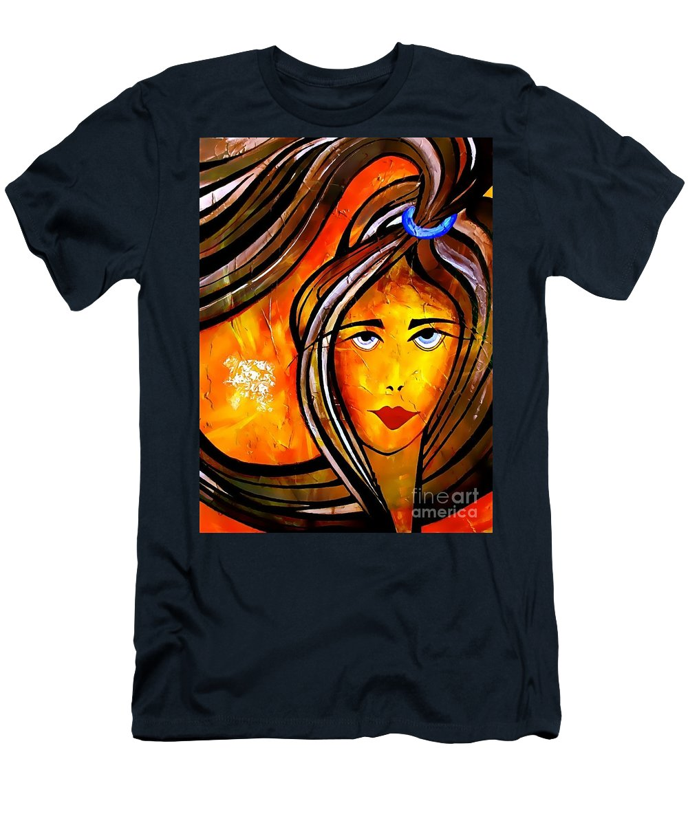 Woman Men's T-Shirt (Athletic Fit) featuring the digital art 053-13 by Marek Lutek