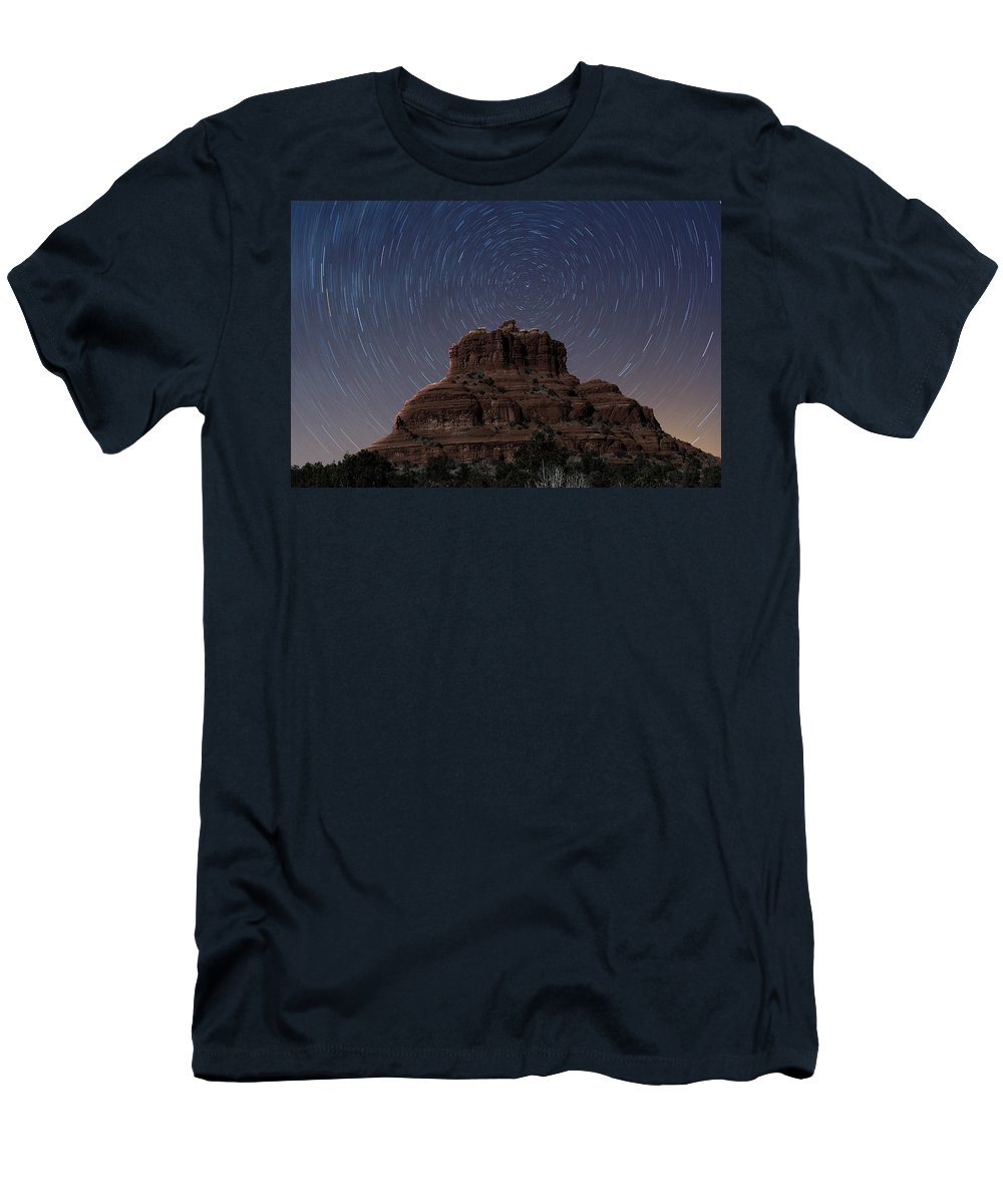 Sedona Men's T-Shirt (Athletic Fit) featuring the photograph Bell Rock by Paul Fell