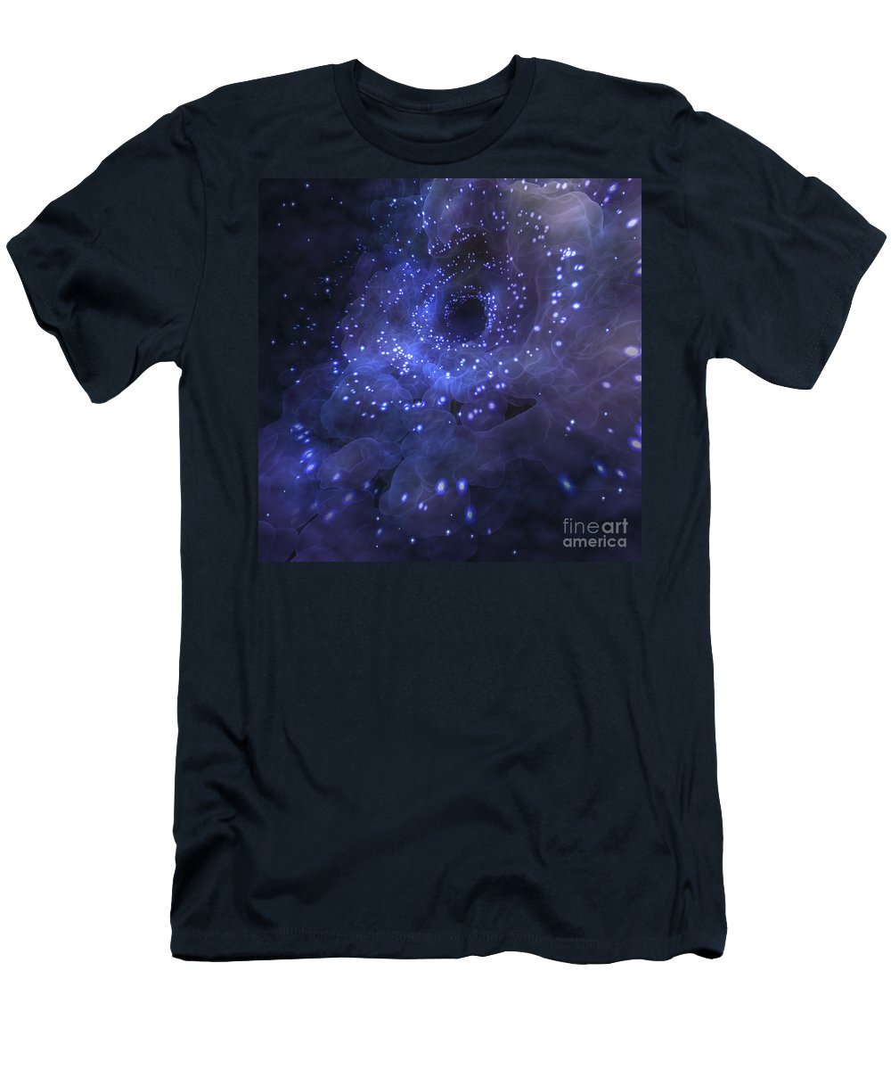 Space-time Continuum Men's T-Shirt (Athletic Fit) featuring the photograph Black Hole by Science Picture Co