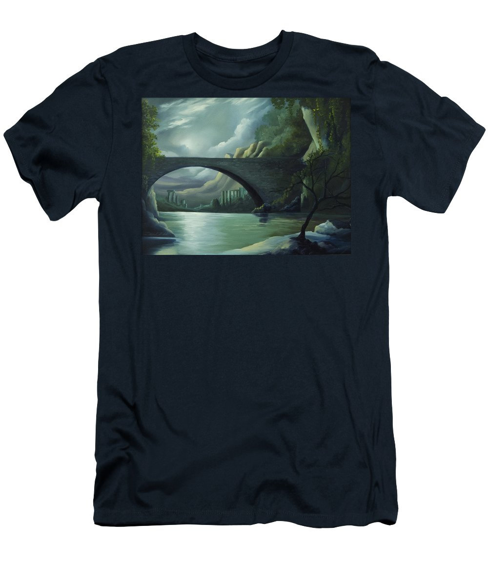 Ghosts T-Shirt featuring the painting Bridge to Nowhere by James Christopher Hill