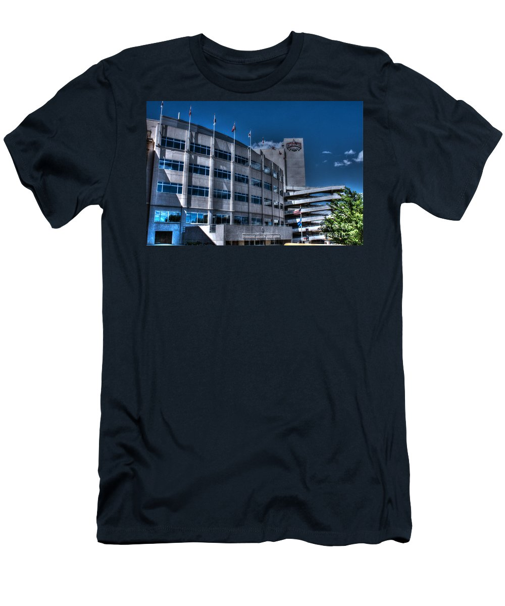 Camp Randall Men's T-Shirt (Athletic Fit) featuring the photograph Camp Randall Stadium by Tommy Anderson