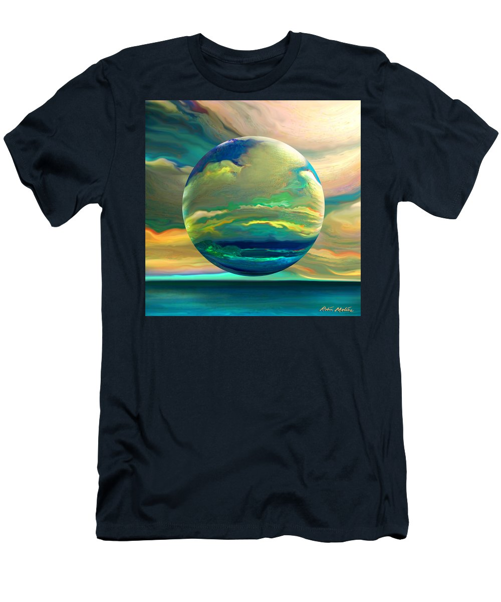 Dreamscape T-Shirt featuring the digital art Clouding the Poets Eye by Robin Moline
