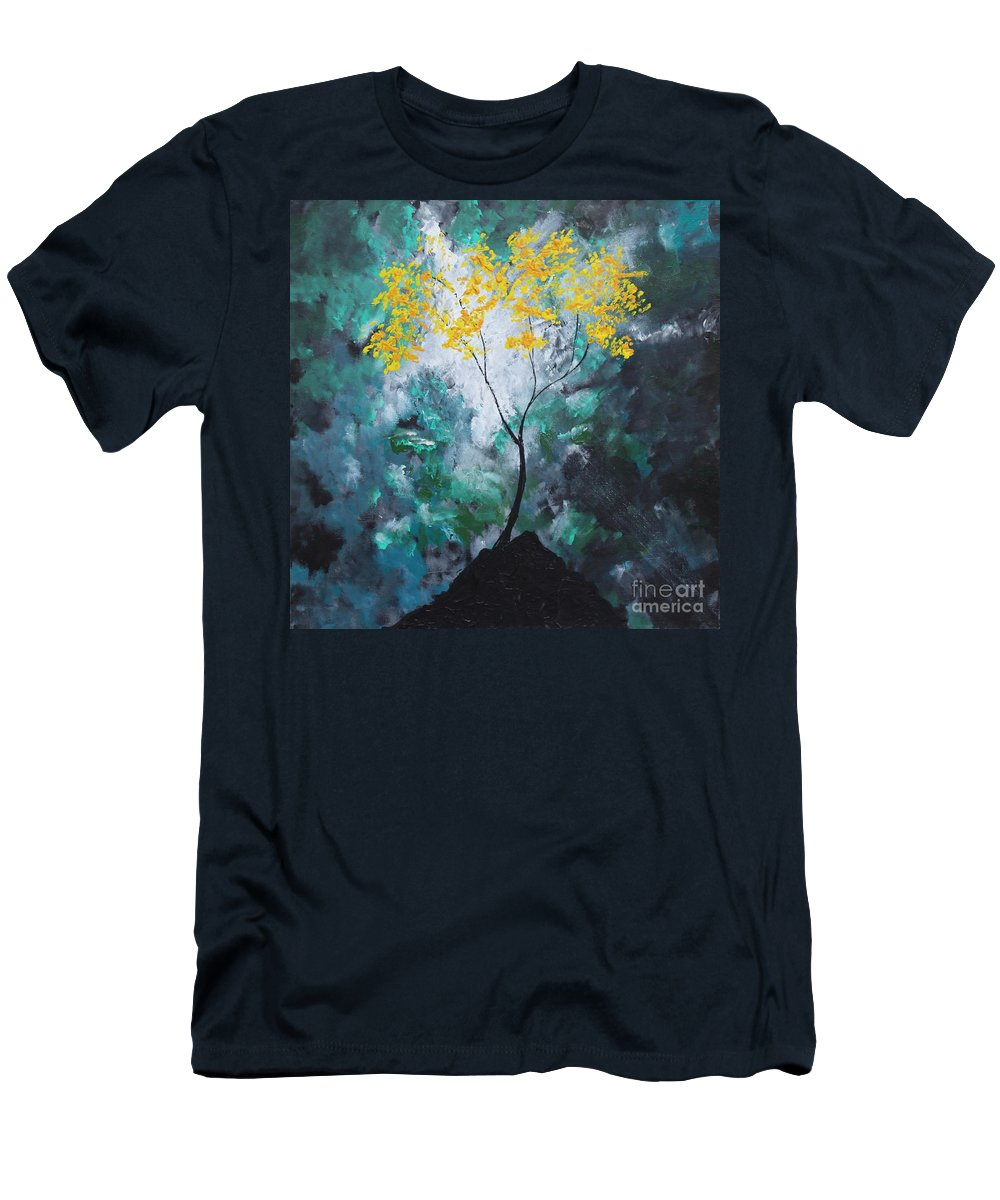 Landscape Men's T-Shirt (Athletic Fit) featuring the painting Crown Of Victory by Stefan Duncan