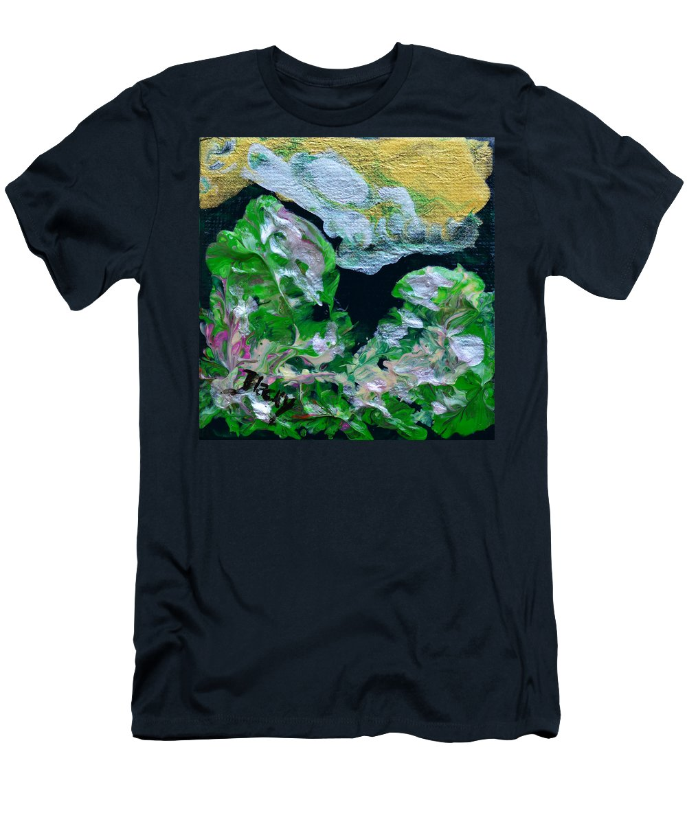 Bold Abstract Men's T-Shirt (Athletic Fit) featuring the painting Crystal Reef by Donna Blackhall