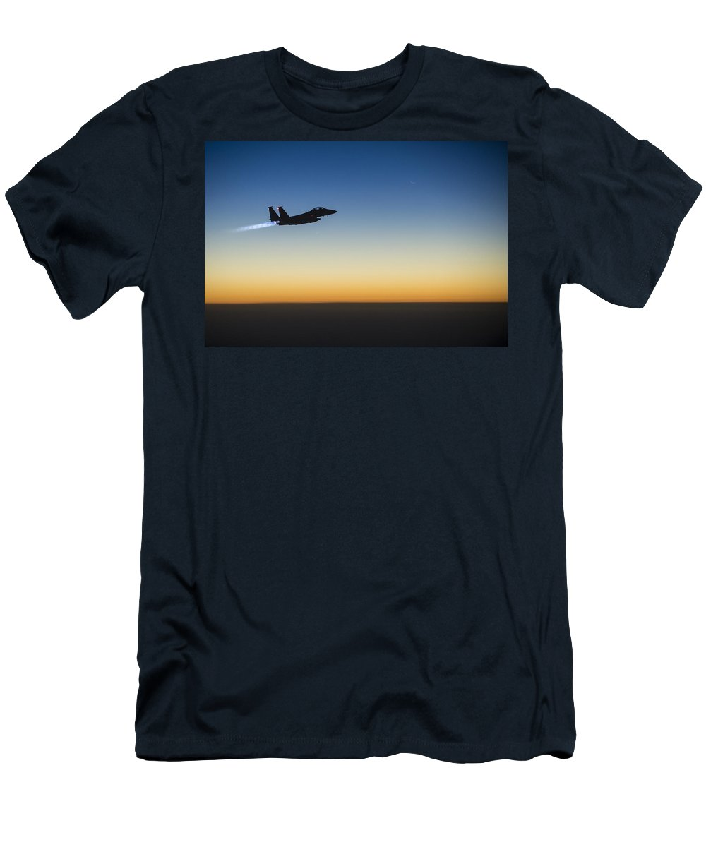 Men's T-Shirt (Athletic Fit) featuring the photograph F15e Strike Eagle by Paul Fearn
