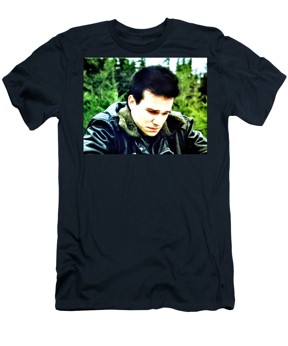 Laura Palmer Men's T-Shirt (Athletic Fit) featuring the painting James by Luis Ludzska