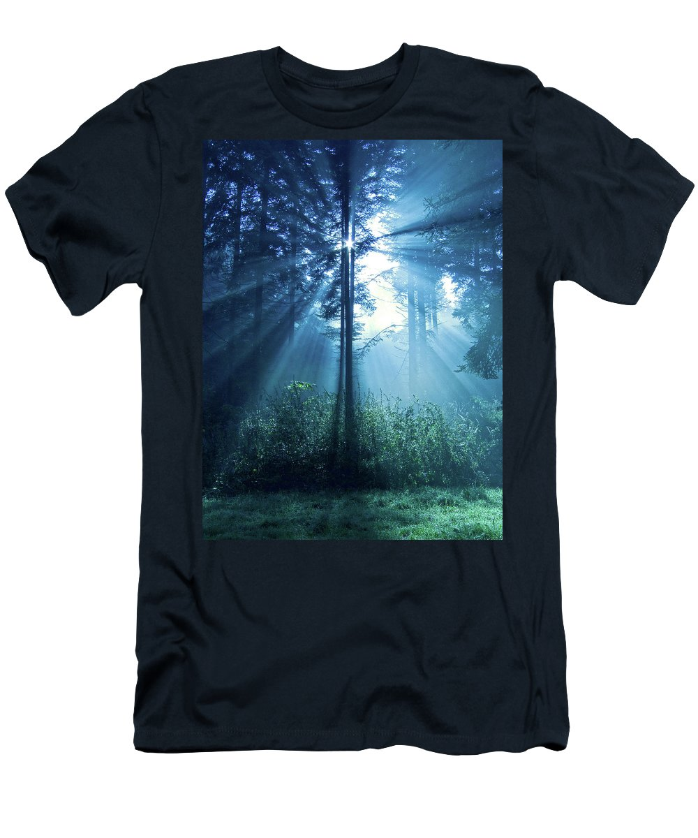 Nature Men's T-Shirt (Athletic Fit) featuring the photograph Magical Light by Daniel Csoka