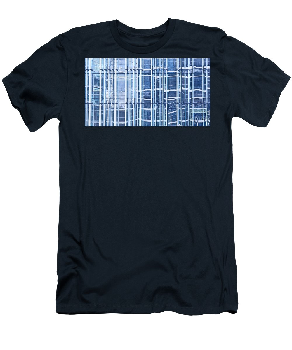 Modern Men's T-Shirt (Athletic Fit) featuring the photograph Modern Architecture Detail by Liz Leyden