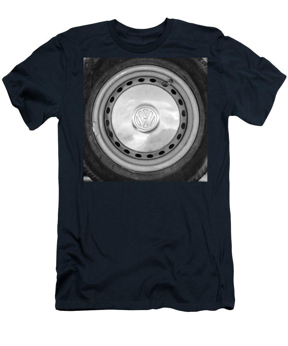 Volkswagen Vw Wheel Emblem Men's T-Shirt (Athletic Fit) featuring the photograph Volkswagen Vw Wheel Emblem by Jill Reger