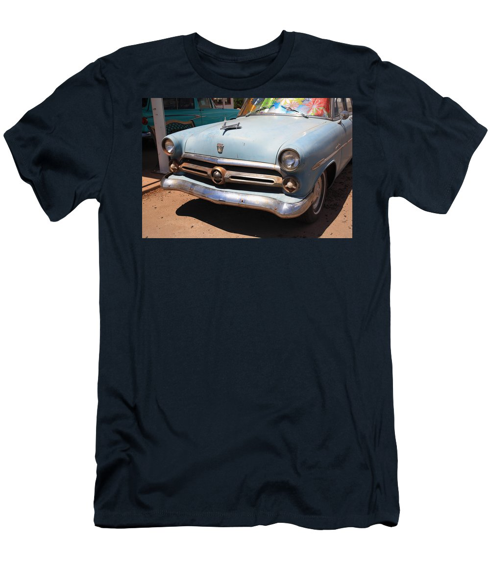 66 Men's T-Shirt (Athletic Fit) featuring the photograph Route 66 Classic Car by Frank Romeo