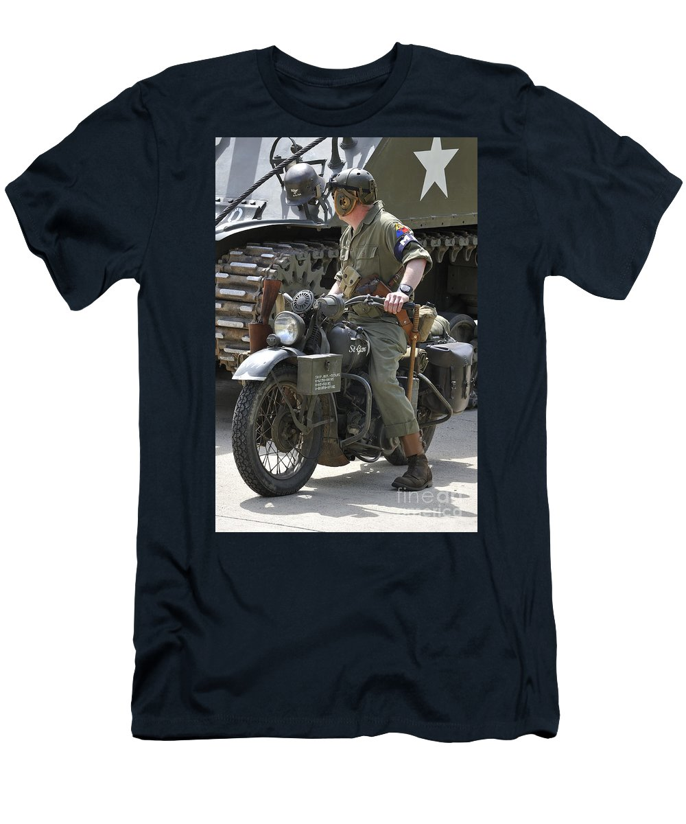 Wold War Ii Men's T-Shirt (Athletic Fit) featuring the photograph 110506p333 by Arterra Picture Library