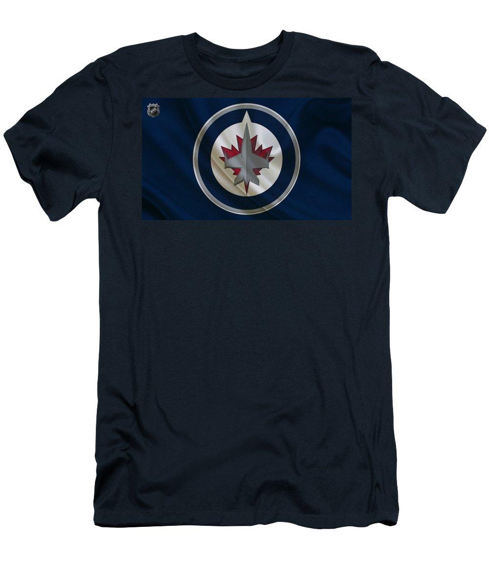 Jets Men's T-Shirt (Athletic Fit) featuring the photograph Winnipeg Jets by Joe Hamilton