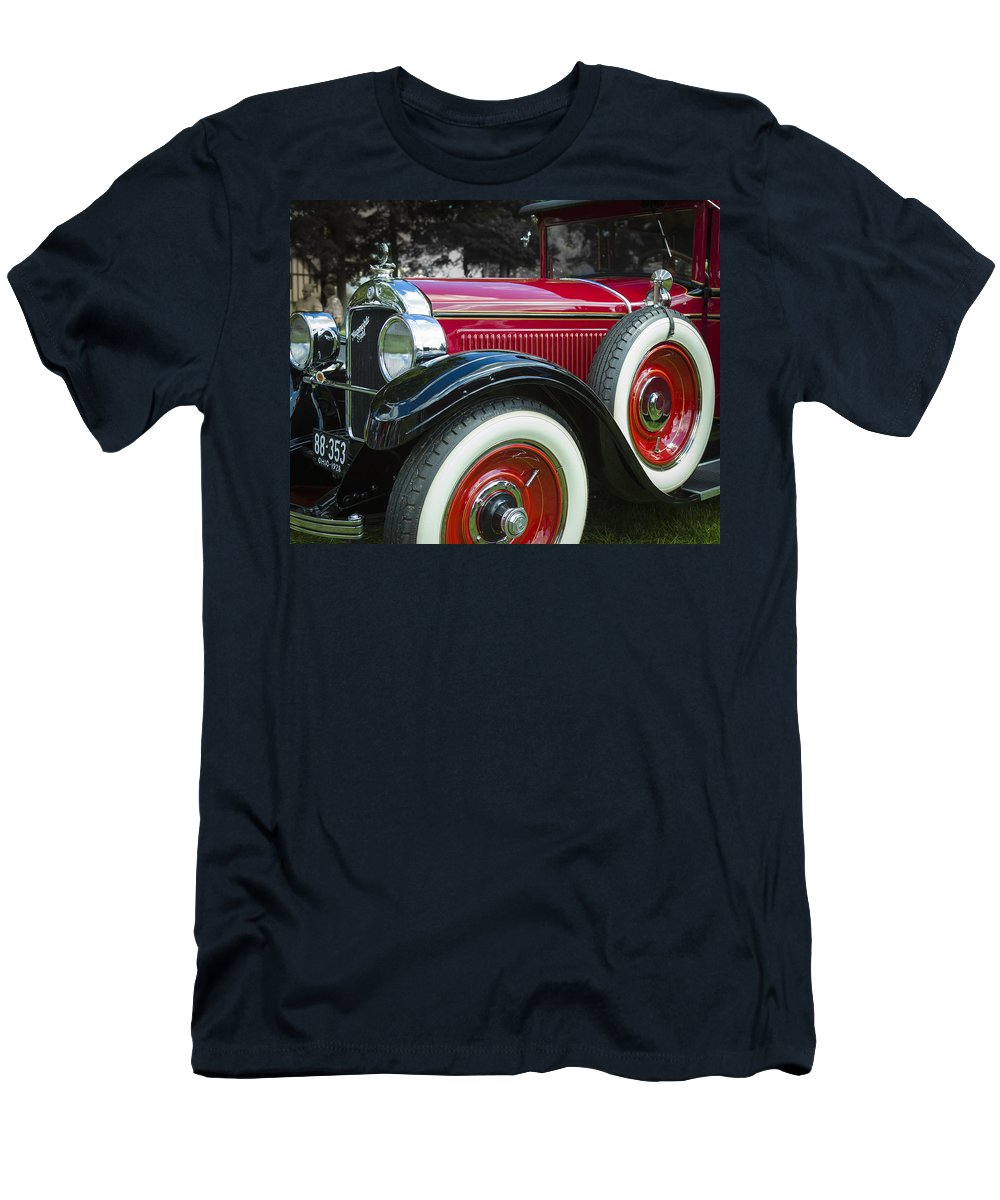 Antique Men's T-Shirt (Athletic Fit) featuring the photograph 1928 Hupmobile Century Model E4 4 Door Sedan by Jack R Perry