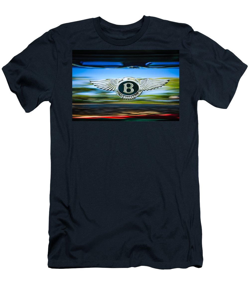 1961 Bentley S2 Continental - Flying Spur - Emblem Men's T-Shirt (Athletic Fit) featuring the photograph 1961 Bentley S2 Continental - Flying Spur - Emblem by Jill Reger