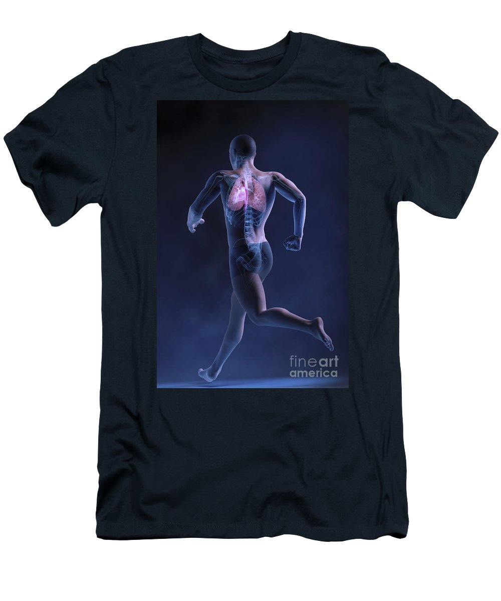 Male Men's T-Shirt (Athletic Fit) featuring the photograph Cardiovascular Exercise by Science Picture Co