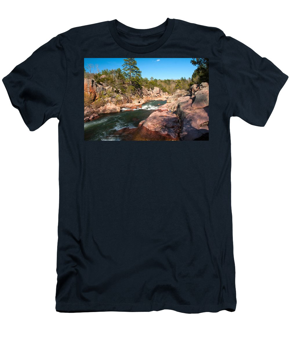 Castor River Men's T-Shirt (Athletic Fit) featuring the photograph Castor River Shut Ins by Steve Stuller