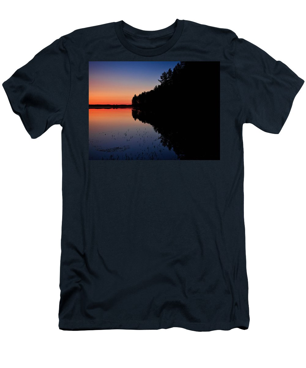 Lehto Men's T-Shirt (Athletic Fit) featuring the photograph Froggy Sunset by Jouko Lehto