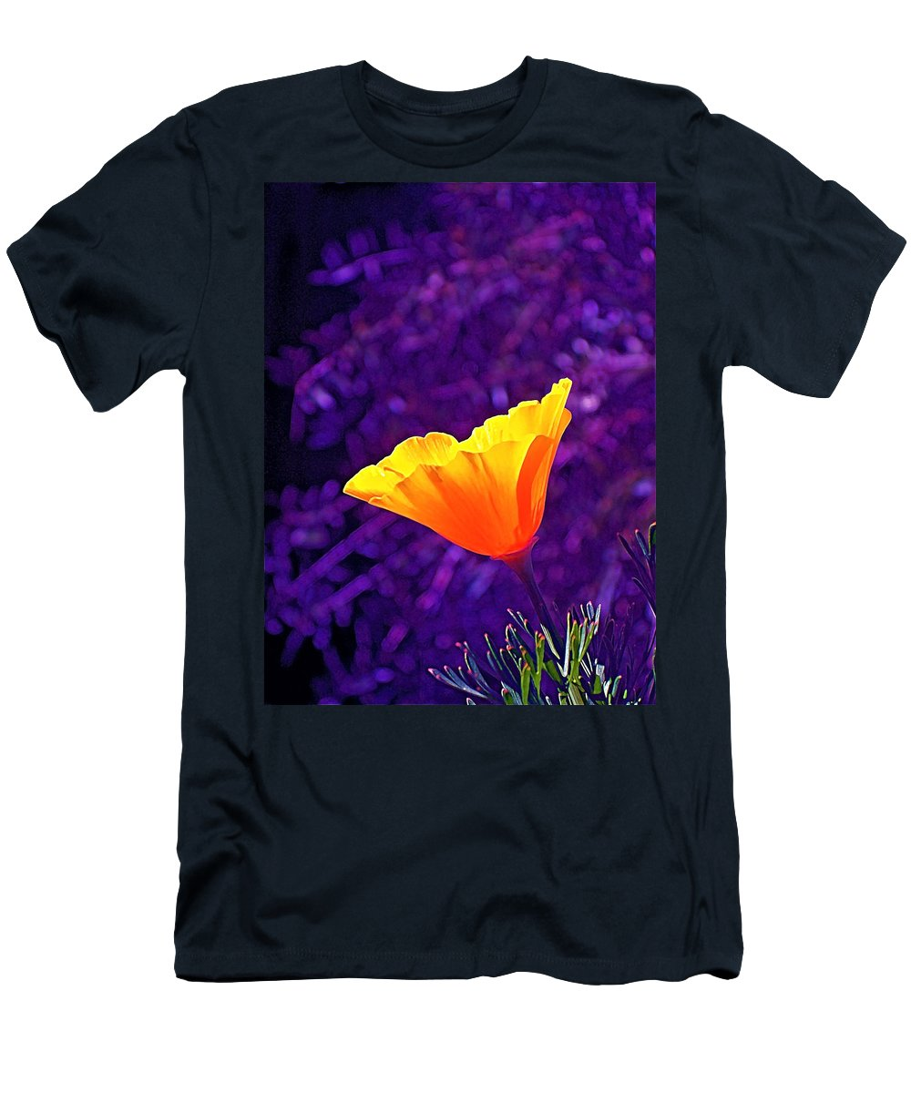 Floral Men's T-Shirt (Athletic Fit) featuring the photograph Poppy 2 by Pamela Cooper