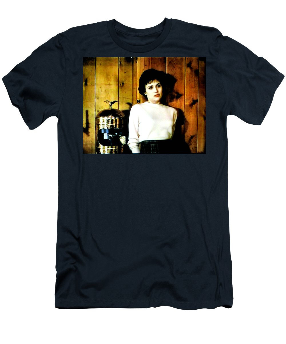 Laura Palmer Men's T-Shirt (Athletic Fit) featuring the painting She'd Been Murdered by Luis Ludzska