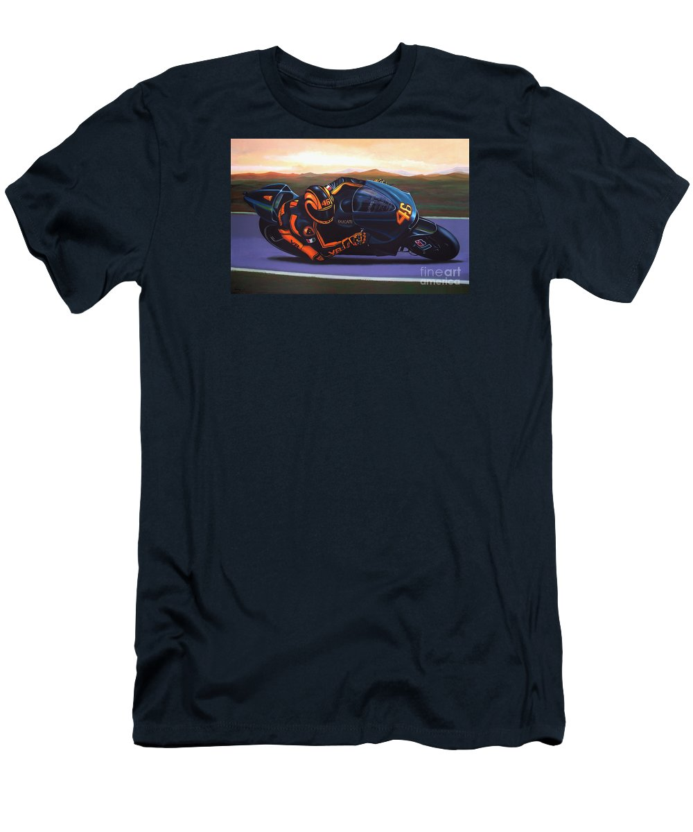 448fdefc43f Valentino Rossi Men s T-Shirt (Athletic Fit) featuring the painting Valentino  Rossi On