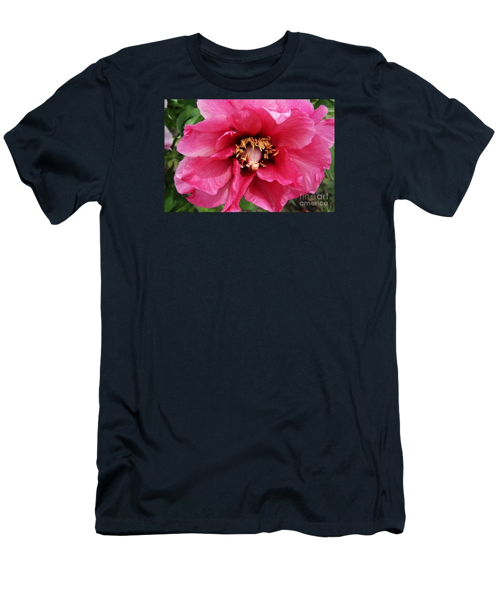 Peonies Men's T-Shirt (Athletic Fit) featuring the photograph Pink Peony by Christiane Schulze Art And Photography