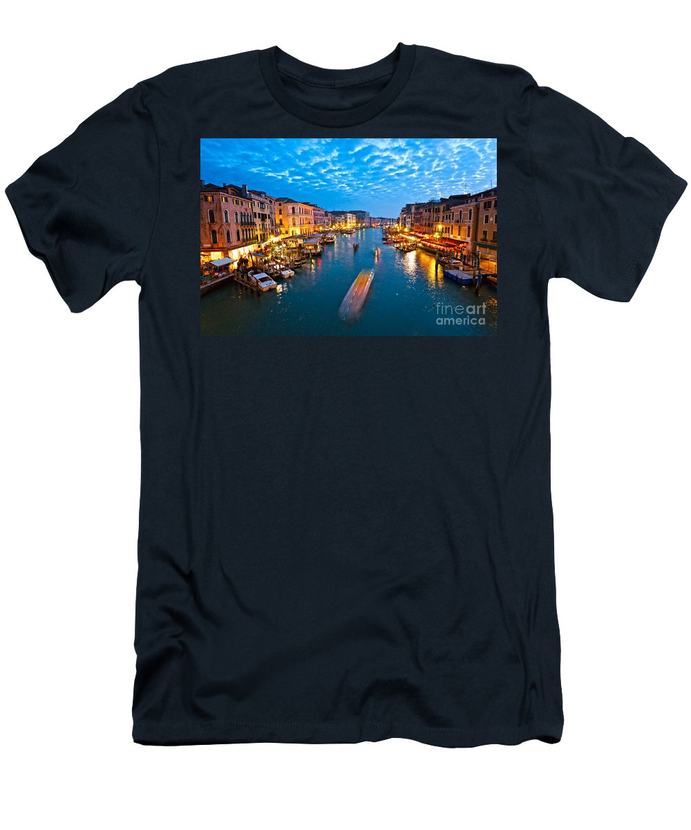 Balcony Men's T-Shirt (Athletic Fit) featuring the photograph Venice by Luciano Mortula
