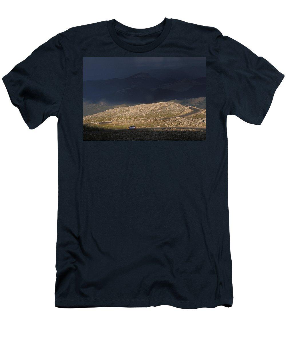 Alpine Men's T-Shirt (Athletic Fit) featuring the photograph Colorado Rockies by Scott Warren