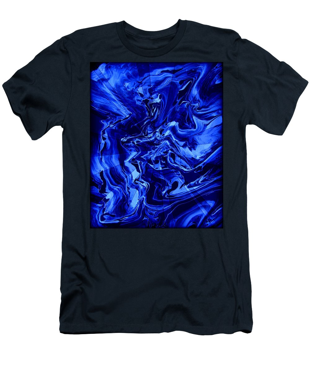 Original Men's T-Shirt (Athletic Fit) featuring the painting Abstract 28 by J D Owen