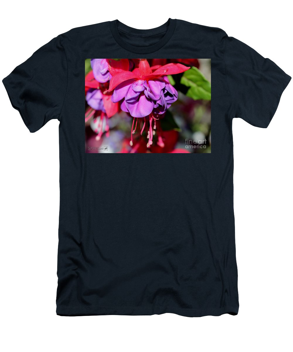 Mccombie Men's T-Shirt (Athletic Fit) featuring the photograph Fuchsia Named Dark Eyes by J McCombie