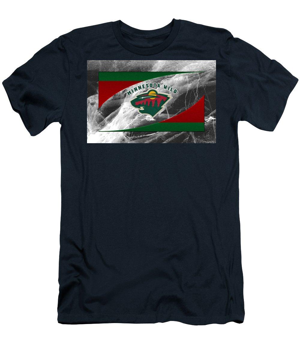 Wild Men's T-Shirt (Athletic Fit) featuring the photograph Minnesota Wild by Joe Hamilton