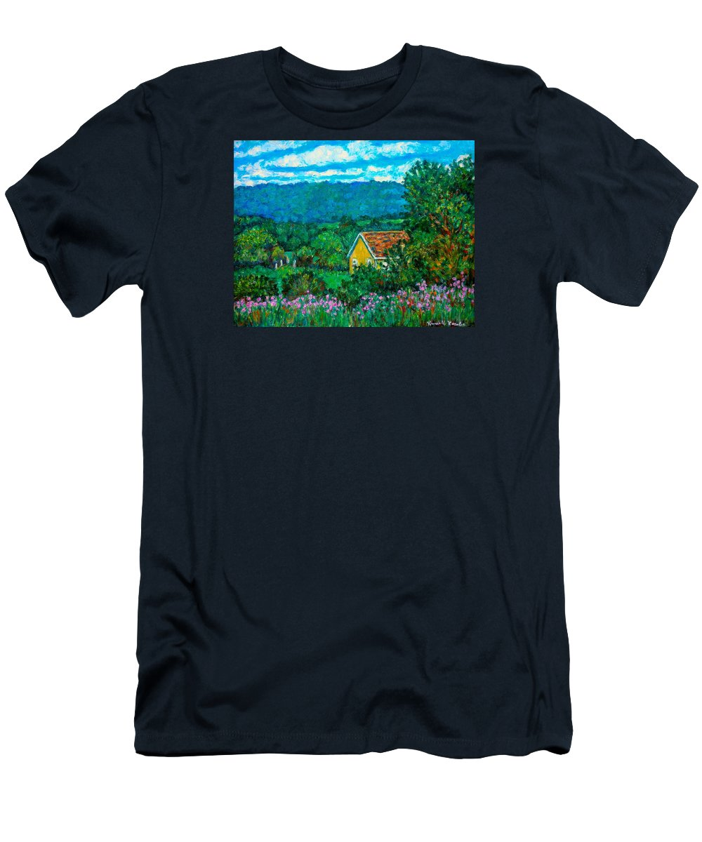 Landscape Men's T-Shirt (Athletic Fit) featuring the painting 460 by Kendall Kessler