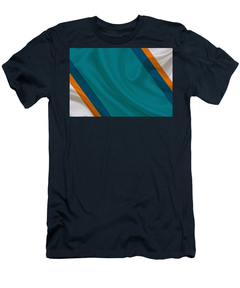 Dolphins Men's T-Shirt (Athletic Fit) featuring the photograph Miami Dolphins by Joe Hamilton