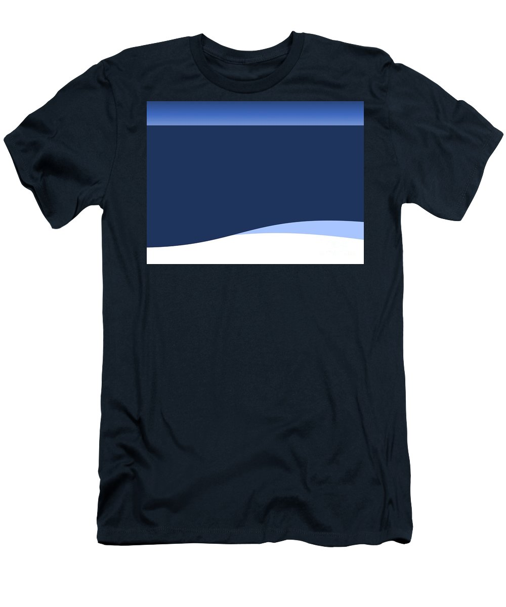 Website Men's T-Shirt (Athletic Fit) featuring the digital art Background Wave by Henrik Lehnerer