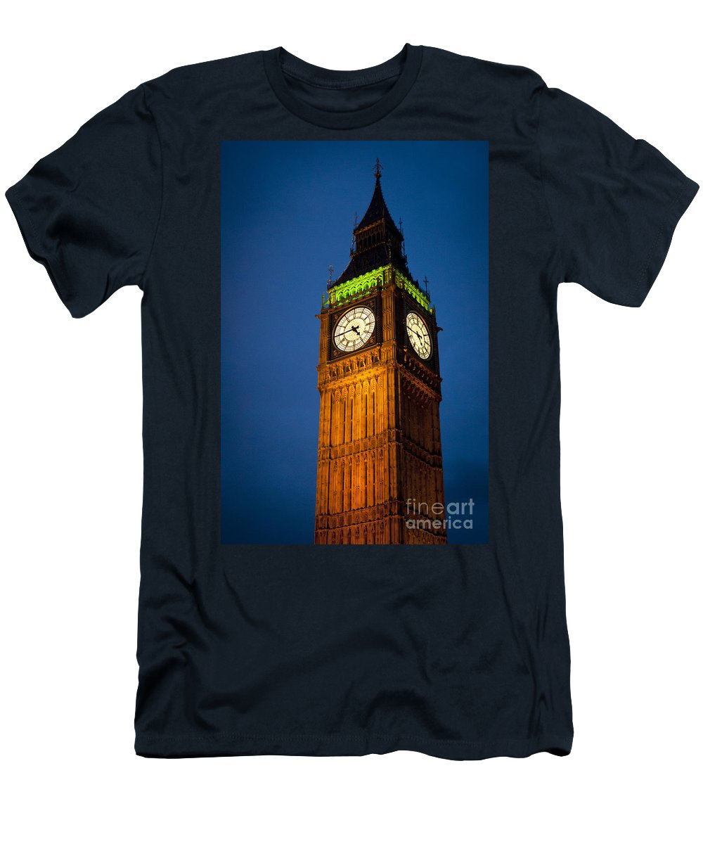 Big Ben Men's T-Shirt (Athletic Fit) featuring the photograph Big Ben by Lana Enderle