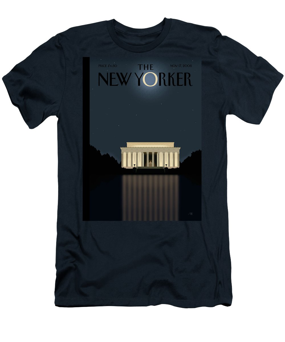 Lincoln T-Shirt featuring the painting Reflection by Bob Staake