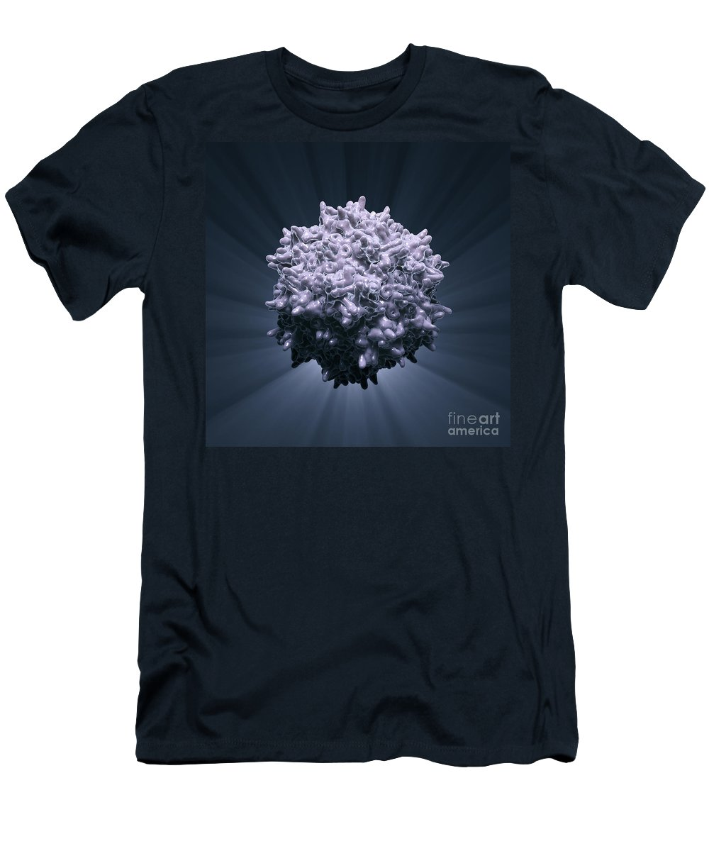 Adeno-associated Virus Men's T-Shirt (Athletic Fit) featuring the photograph Adeno-associated Virus by Science Picture Co