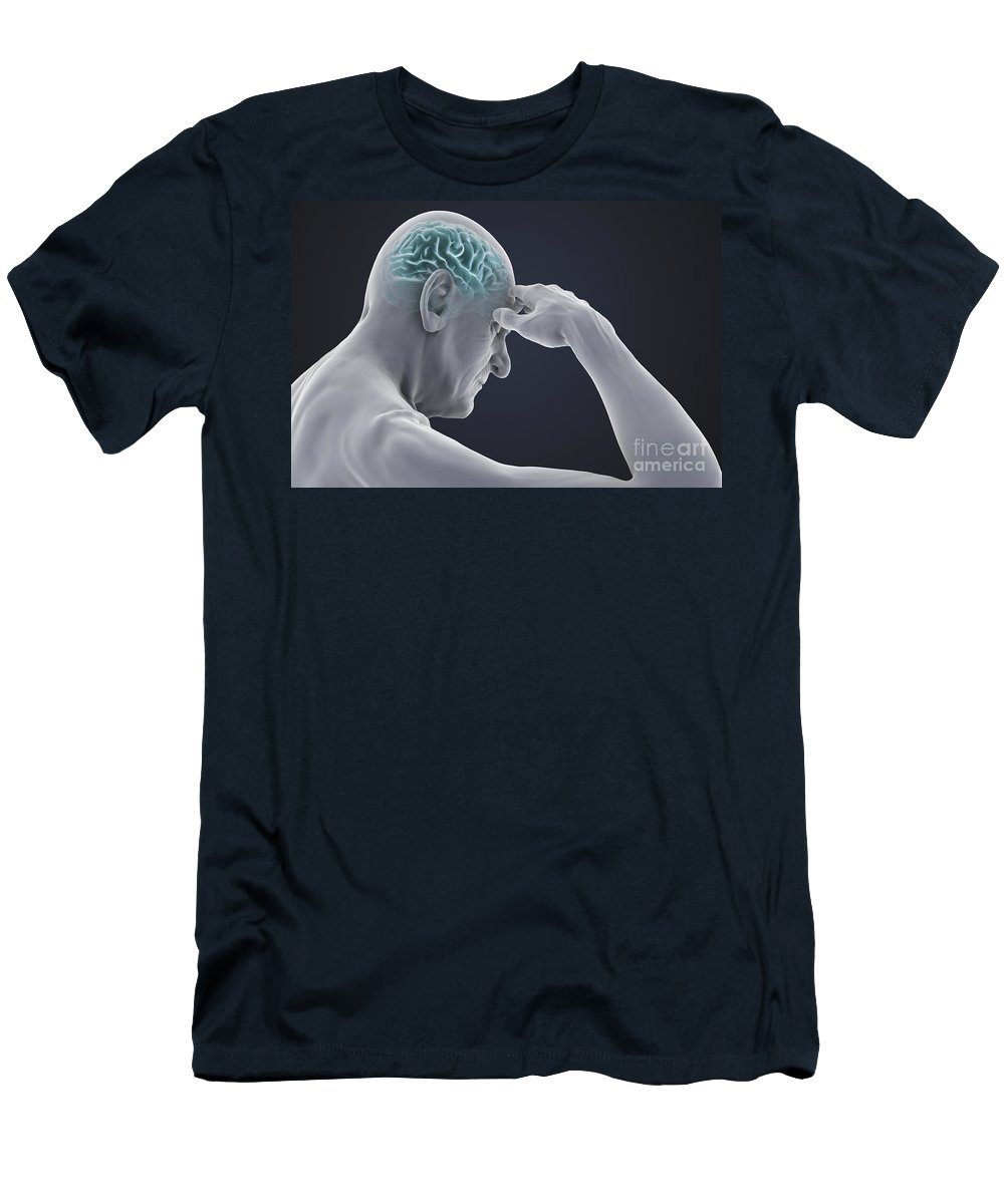Head Pain Men's T-Shirt (Athletic Fit) featuring the photograph Head Pain by Science Picture Co