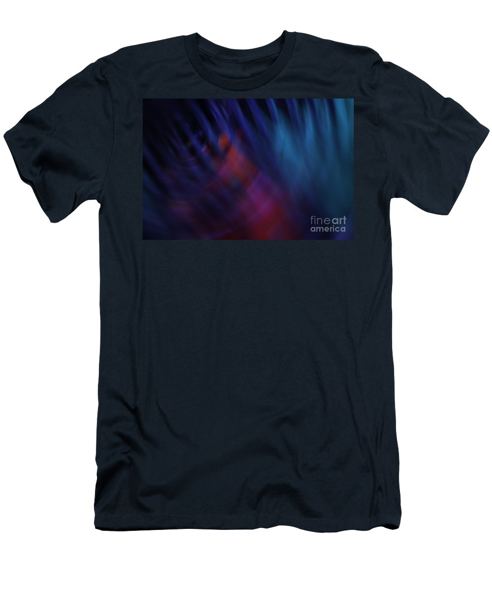 Blue Men's T-Shirt (Athletic Fit) featuring the photograph Abstract Blue Red Green Diagonal Blur by Marvin Spates