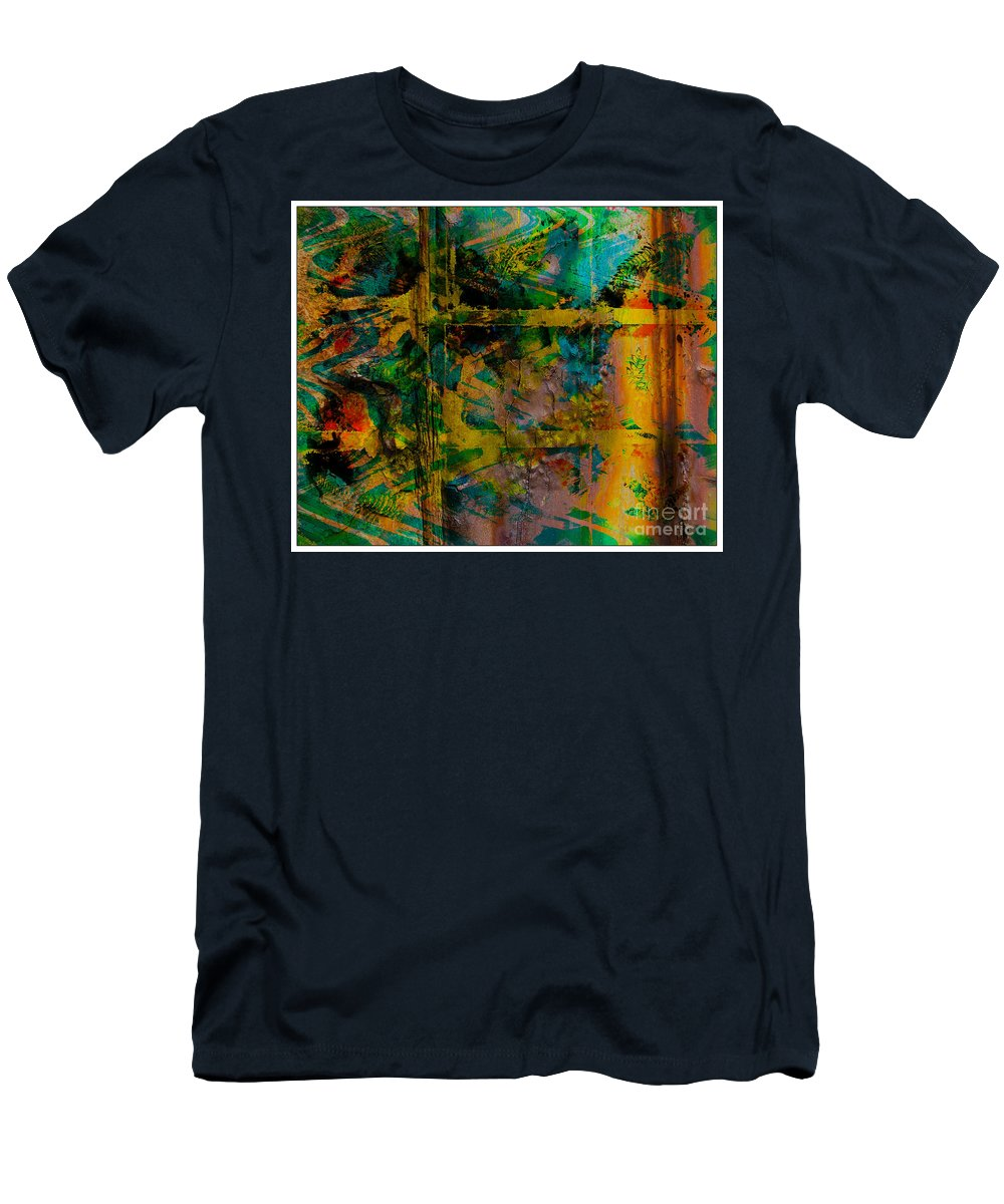 Front Men's T-Shirt (Athletic Fit) featuring the digital art Abstract - Emotion - Facade by Barbara Griffin