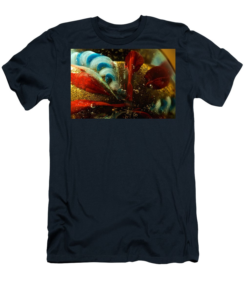 Gold Men's T-Shirt (Athletic Fit) featuring the photograph Abstract Glass by Jess Kraft