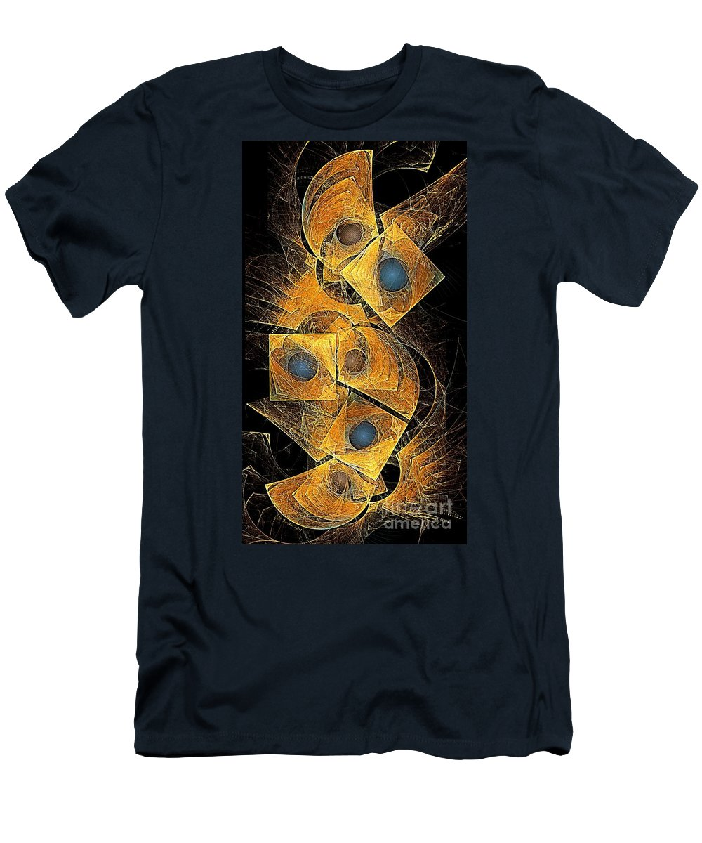 Bubbles Men's T-Shirt (Athletic Fit) featuring the digital art Abstraction 207-03-13 Marucii by Marek Lutek