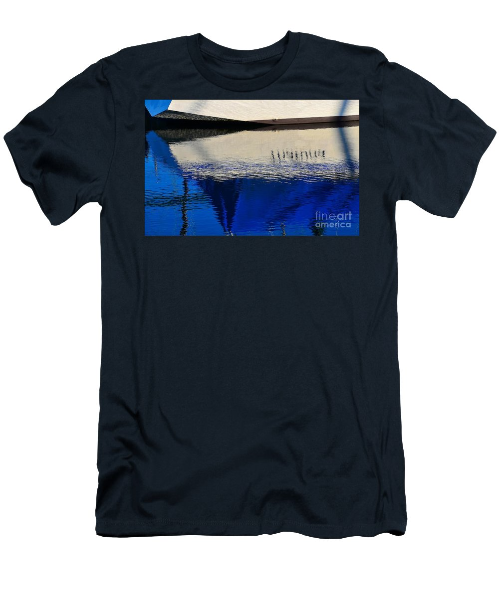 Abstract Men's T-Shirt (Athletic Fit) featuring the photograph Adrift On The Deep Blue by Lauren Leigh Hunter Fine Art Photography