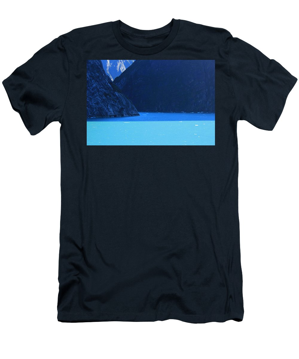 Alaska Men's T-Shirt (Athletic Fit) featuring the photograph Alaska Rhapsody In Blue by Kris Hiemstra