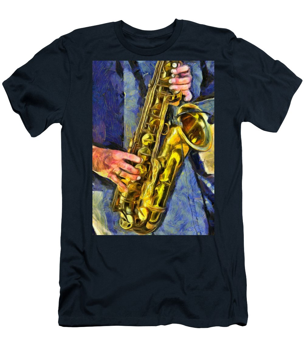 All That Jazz Men's T-Shirt (Athletic Fit) featuring the painting All That Jazz by L Wright