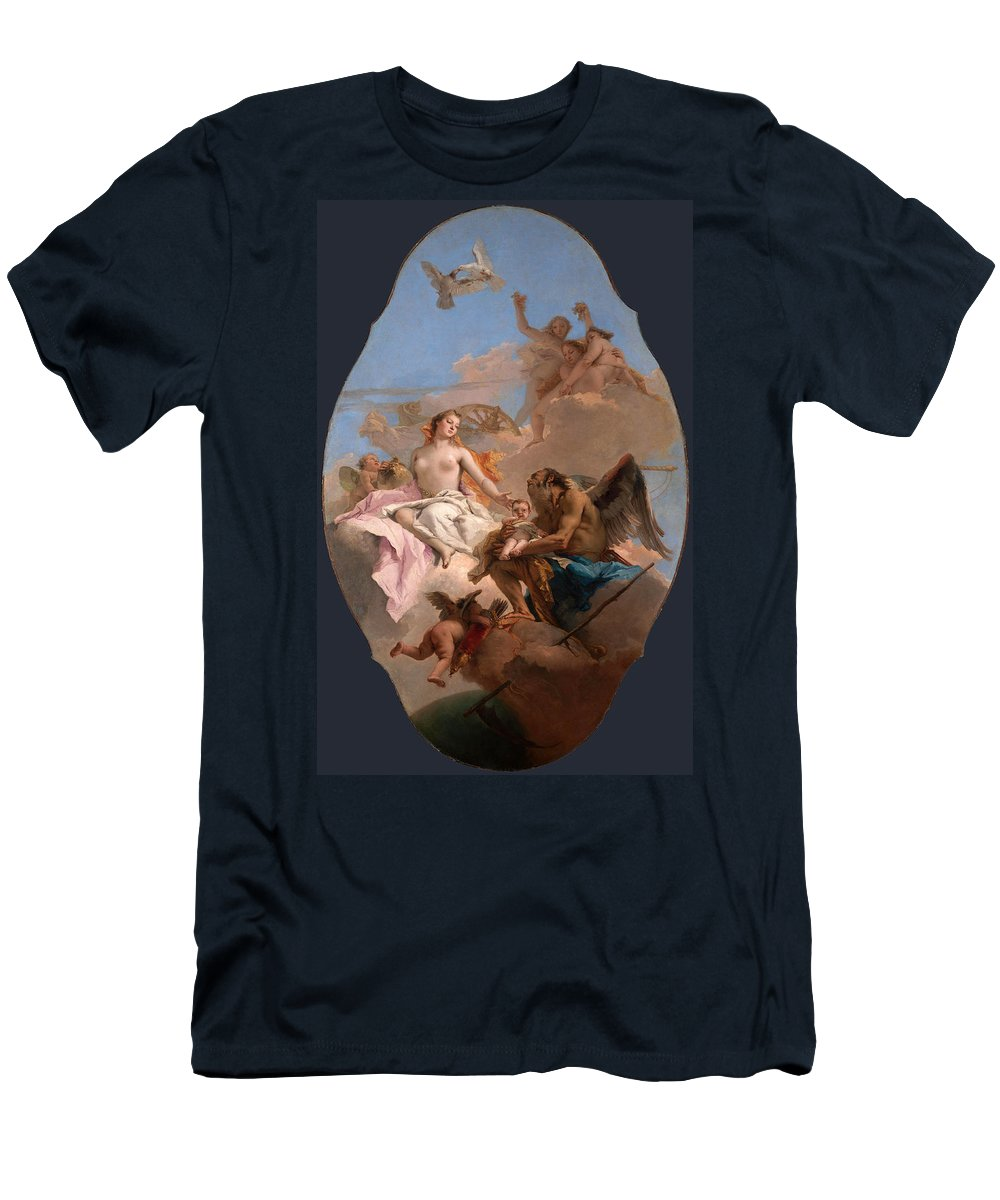 Giovanni Battista Tiepolo Men's T-Shirt (Athletic Fit) featuring the painting An Allegory With Venus And Time by Giovanni Battista Tiepolo
