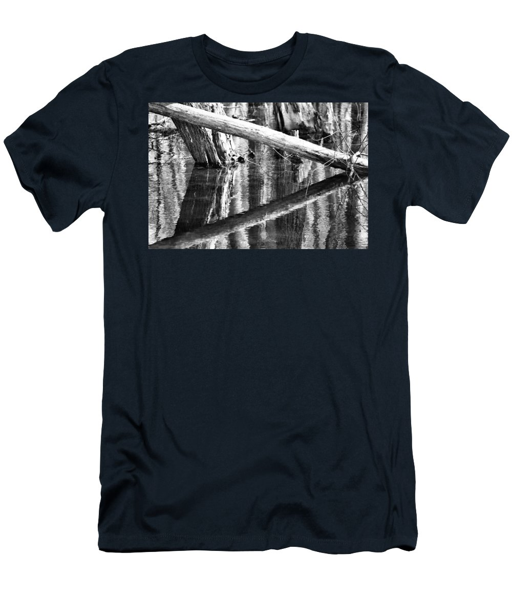 Angles And Reflections Men's T-Shirt (Athletic Fit) featuring the photograph Angles And Reflections by Dan Sproul