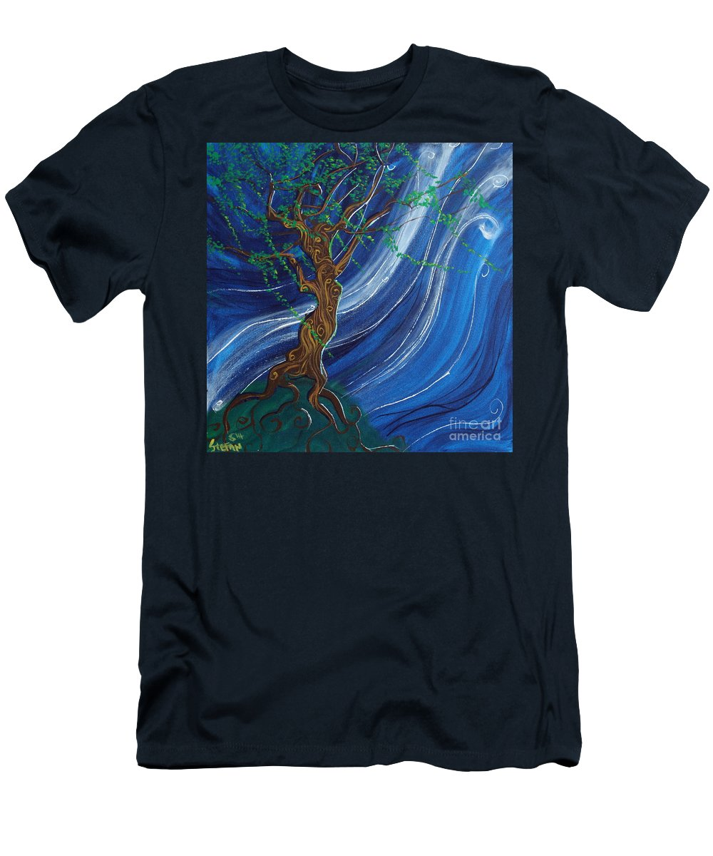 Impressionism Men's T-Shirt (Athletic Fit) featuring the painting Anticipation by Stefan Duncan