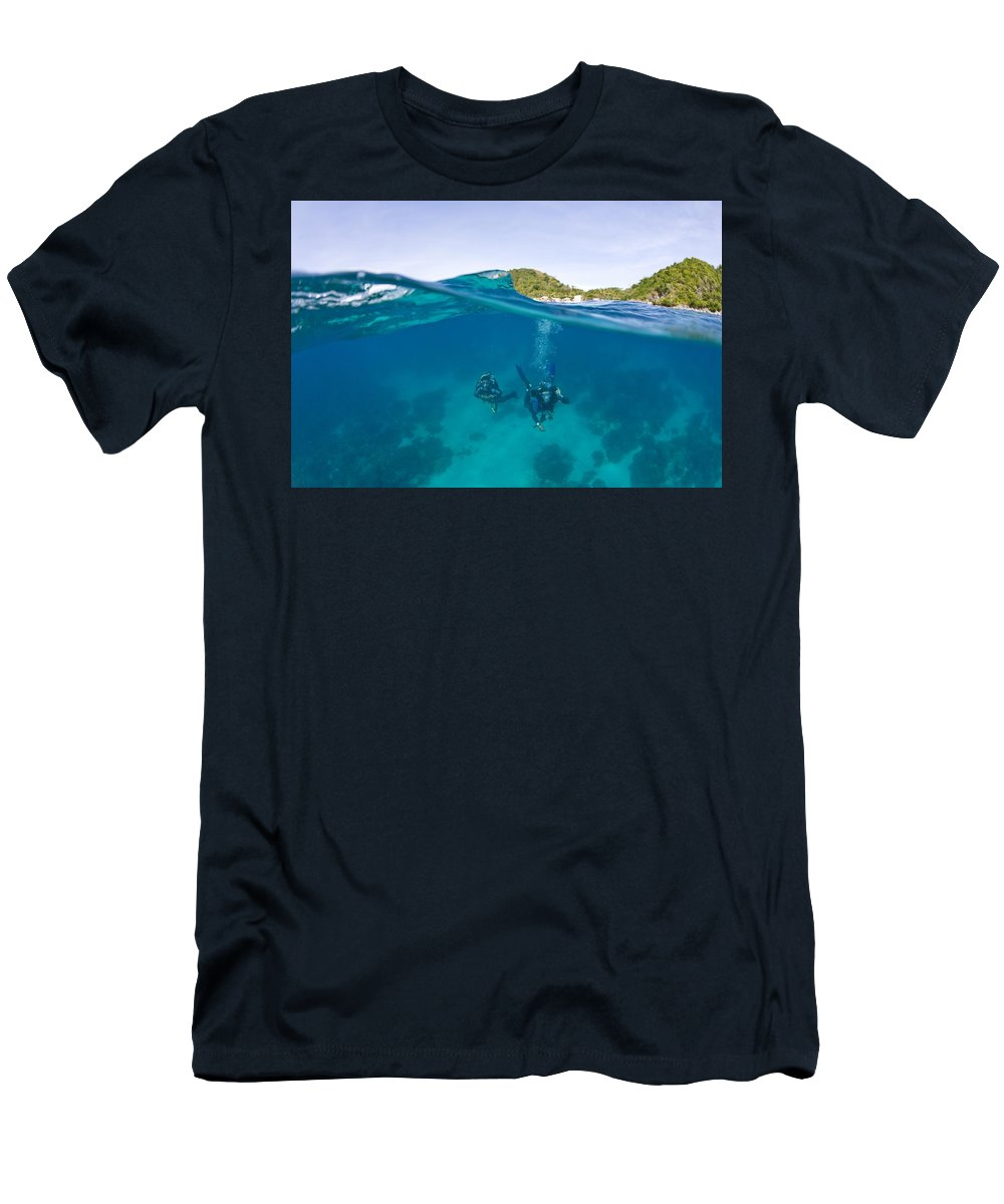 Journey Men's T-Shirt (Athletic Fit) featuring the photograph Apo Island Marine Park Negros Oriental by Stuart Westmorland